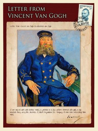 Letter from Vincent: Portrait of the Postman Joseph Roulin