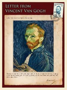 Letter from Vincent: Salf-Portrait1 by Vincent van Gogh