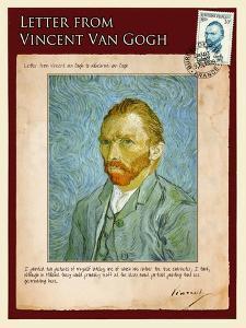 Letter from Vincent: Self-Portrait2 by Vincent van Gogh