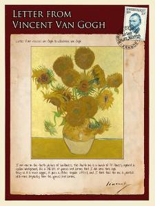 Letter from Vincent: Vase with Fourteen Sunflowers by Vincent van Gogh