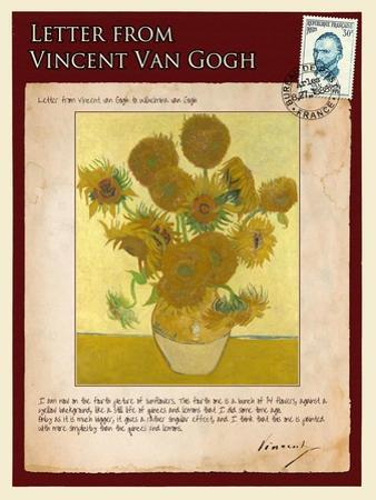 Letter from Vincent: Vase with Fourteen Sunflowers