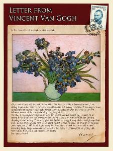Letter from Vincent: Vase with Irises by Vincent van Gogh