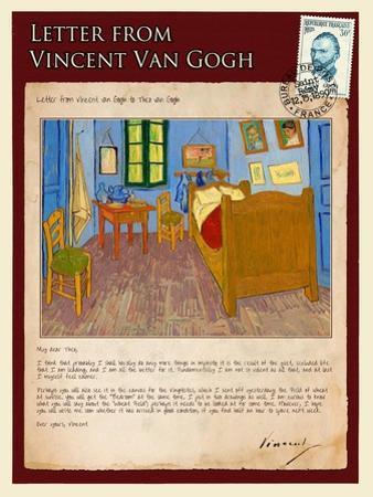 Letter from Vincent: Vincent's Bedroom in Arles
