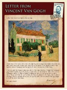 Letter from Vincent: White House at Night by Vincent van Gogh