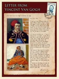 Letter from Vincent: Zouave by Vincent van Gogh