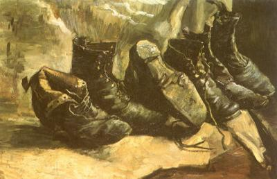 Line of Old Boots, 1886