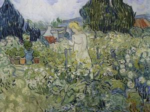 Mademoiselle Gachet in Her Garden at Auvers-Sur-Oise, 1890 by Vincent van Gogh