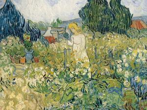 Mademoiselle Gachet in Her Garden at Auvers-Sur-Oise (Mademoiselle Gachet by Vincent van Gogh