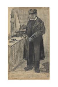 Man Polishing a Boot, 1882 by Vincent van Gogh