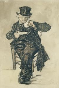 Man with a Top Hat Drinking a Cup of Coffee, 1882 by Vincent van Gogh