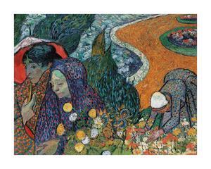 Memory of the Garden at Etten - Ladies of Arles by Vincent Van Gogh
