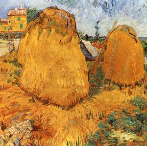Meules De Foin En Provence by Vincent van Gogh