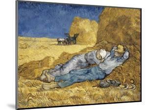 Noon, or the Siesta, after Millet by Vincent van Gogh