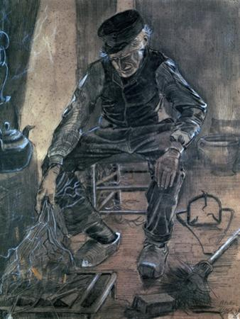 Old Man Kindling Wood, 1881 by Vincent van Gogh