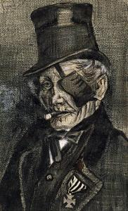 Orphan Man in Sunday with Eye Bandage by Vincent van Gogh