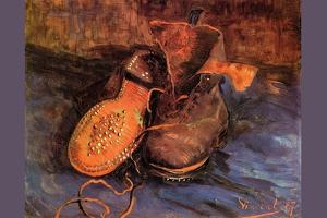 Pair of Shoes, 1887 by Vincent van Gogh