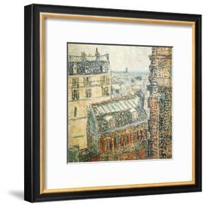 Paris Vu De La Chambre De Vincent by Vincent van Gogh