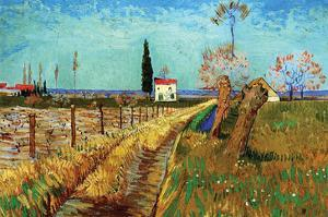 Path Through a Field with Willows by Vincent van Gogh