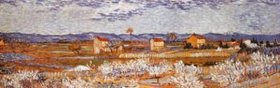 Peach Blossoms in the Crau, c.1889 (detail) by Vincent van Gogh
