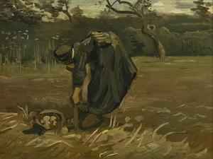 Peasant Woman, Harvesting Potatoes, 1885 by Vincent van Gogh