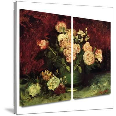 Peonies and Roses 2 piece gallery-wrapped canvas by Vincent van Gogh