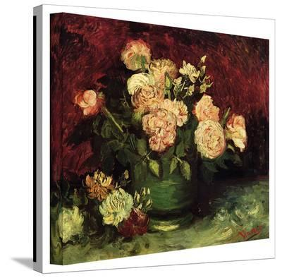 Vincent van Gogh 'Peonies and Roses' Wrapped Canvas-Vincent van Gogh-Gallery Wrapped Canvas
