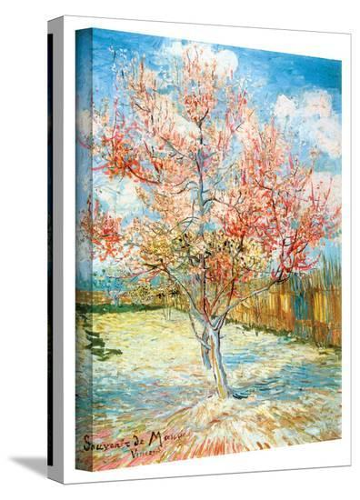 Vincent van Gogh 'Pink Peach Tree' Wrapped Canvas Art-Vincent van Gogh-Gallery Wrapped Canvas
