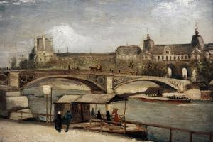""" Pont Du Carrousel With Louvre"" 1886. Museo Carlsberg Glyptotek. Copenhague. Dinamarca by Vincent van Gogh"