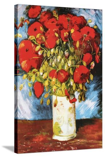 Vincent Van Gogh Poppies Art Print Poster--Stretched Canvas Print