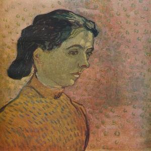 'Portrait De Jeune Fille Sur Fond Rose', 1888 by Vincent van Gogh