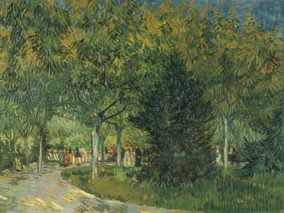 Promenaders, Jardin Du Poete, Arles, 1888