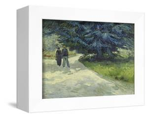 Public Garden with Couple and Blue Fir Tree by Vincent van Gogh