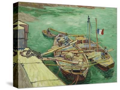 Rhonebarken, (Les Bateaux Amarrés), 1888