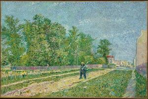 Road on the Edge of Paris, Farmer Carrying a Spade on His Shoulder, 1887 by Vincent van Gogh