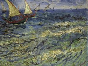 Seascape at Saintes-Maries, 1888 by Vincent van Gogh