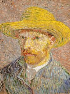 Self-Portrait with a Straw Hat, 1887 by Vincent van Gogh