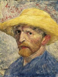 Self-Portrait with a Straw Hat by Vincent van Gogh