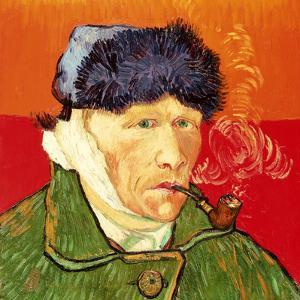 Self Portrait with Bandaged Ear and Pipe, 1889 by Vincent van Gogh