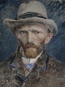 Self Portrait with Grey Felt Hat, 1887 by Vincent van Gogh