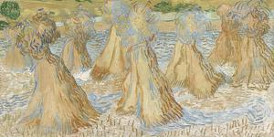 Sheaves of Wheat, 1890 by Vincent Van Gogh