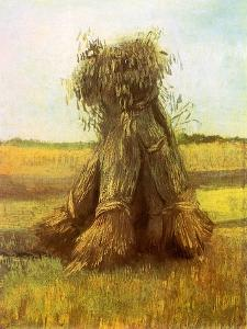 Sheaves of Wheat in a Field, 1885 by Vincent van Gogh