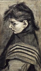 Sien's Sister with Shawl by Vincent van Gogh