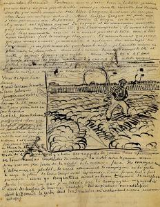 Sketch of the Sower in a Letter to Emile Bernard by Vincent van Gogh