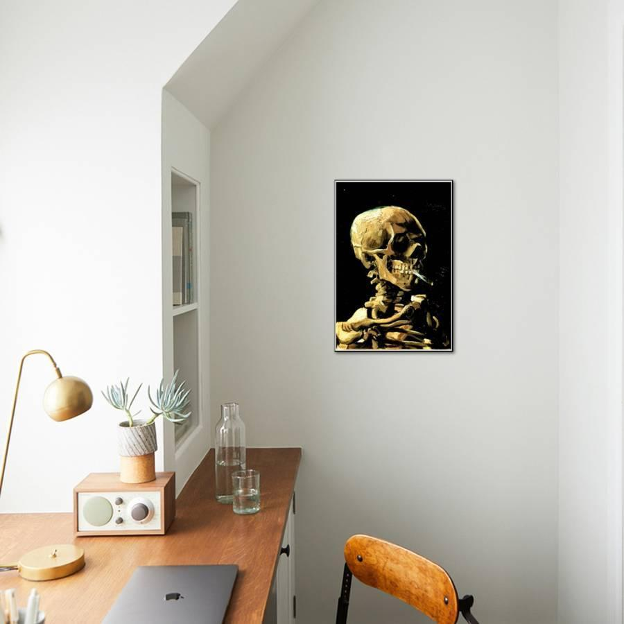 Vincent Van Gogh (Skull with Cigarette) Art Print Poster Mounted ...
