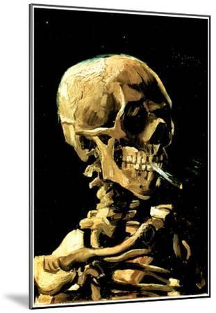 Vincent Van Gogh (Skull with Cigarette) Art Print Poster