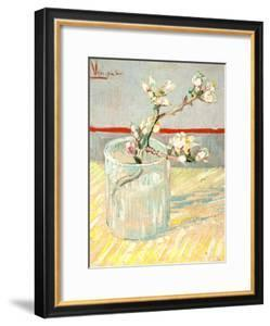 Sprig of Flowering Almond Blossom in a Glass, 1888 by Vincent van Gogh