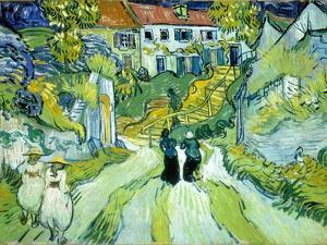 Stairway at Auvers, July 1890 by Vincent van Gogh