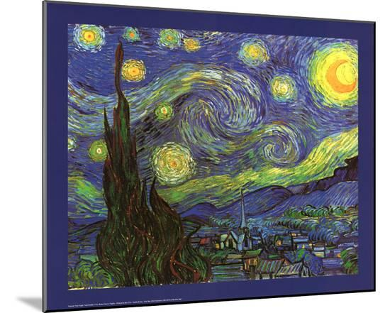 Vincent Van Gogh Starry Night Art Print Poster Mounted Print By