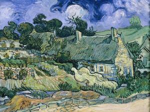 Staw-Roofed Houses by Vincent van Gogh