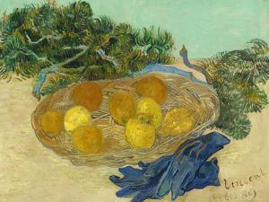 Still Life of Oranges and Lemons with Blue Gloves, 1889 by Vincent van Gogh